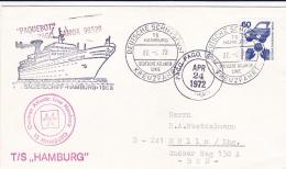 T/S Hamburg German Atlantic Line Posted Pago Pago, Samoa P/m Deutsche Schiffpost Kreuzfahrt 1972  (T11-37) - Schiffe