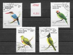 Oiseau - Laos N°865 à 869 (sauf 866) 1988 O - Perroquets & Tropicaux