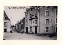 Sillé Le Guillaume : Place De La Croix D'Or Et La Rue De Rennes - Sille Le Guillaume