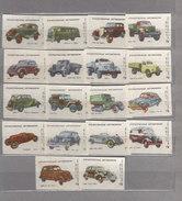 Russia Soviet Union Machbox Labels-The Russian Old Cars - Boites D'allumettes - Etiquettes