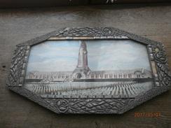 2 Cadres Photo De L'Ossuaire De Douaumont Et De La Tranchée Des Baïonnettes - 1914-18
