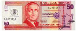 PHILIPPINES 50 PISO 2013 50 YEARS TRINITY UNIVERSITY OF ASIA Pick 216 Unc - Filippine
