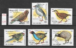 Oiseau - Nicaragua N°1544 à 1549 1990 O - Parrots