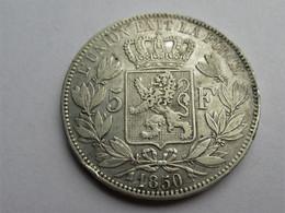 Belgique 5 Francs, 1850 - 1831-1865: Leopold I