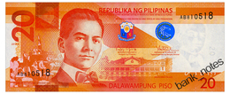 PHILIPPINES 20 PISO 2014A Pick 206 Unc - Philippines