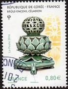 Oblitération Cachet à Date Sur Timbre De France N° 5064 - Émission Avec La République De Corée, Brûle-encens, Céladon - France