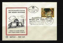 ÖSTERREICH - FDC Mi-Nr. 1154 Wiedereröffnung Der Wiener Secession Stempel WIEN (7) - FDC