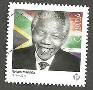 Sc. # 2806 Nelson Mandela Single Used 2015 K104 - 1952-.... Règne D'Elizabeth II