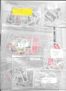 LOT DE TIMBRES NEUFS EN FRANCS VENDU SOUS-FACIALE PAR POCHETTES DE 50 TIMBRES - DE 1 FRANC A 2.20 VALEUR TOTALE 597 FF. - Stamps