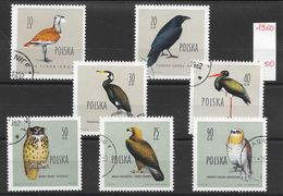 Oiseau Aigle Corbeau Hibou - Pologne N°1070 à 1076 (sauf 1075) 1960 O - Non Classés