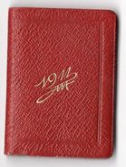 PETIT ALMANACH 1911 CALENDRIER AVEC NOTES  PUBLICITAIRE LIBRAIRIE Vve DUVAL  PAU - Calendars