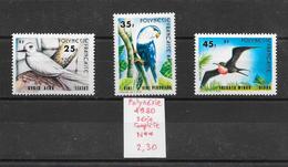 Oiseau - Polynésie N°156 à 158 1980 ** - Perroquets & Tropicaux