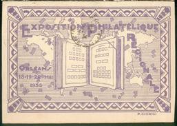 Exposition Philatélique Régionale - Orléans 18-19 - 20 Mai 35 (cachet Spécial) - Orleans