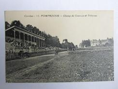 POMPADOUR,champ De Courses Et Tribunes Avec Le Châteauen Arrière Plan - Arnac Pompadour