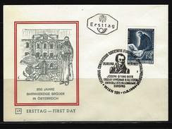 ÖSTERREICH - FDC Mi-Nr. 1155 - 350 Jahre Barmherzige Brüder In Österreich Stempel WIEN (12) - FDC