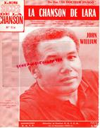 PARTITION MUSICALE-LA CHANSON DE LARA-DOCTEUR JIVAGO-JOHN WILLIAM-HUBERT ITHIER-WEBSTER-MAURICE JARRE-1965 - Partitions Musicales Anciennes