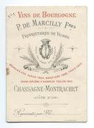 CATALOGUE 1900 De VINS De BOURGOGNE 1895, 1898, 1899, 1900.. P. De MARCILLY Fres à CHASSAGNE-MONTRACHET ( 21) - Publicités