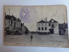 Réf: 82-18-10.             SEIGNELAY        Route D'Auxerre Et Hôtel Du Grand Cerf. - Seignelay