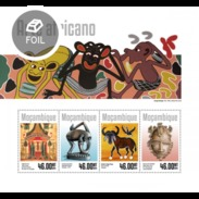 MOZAMBIQUE 2014 SHEET AFRICAN ART ARTE AFRICANO ART AFRICAIN Moz14306a - Mozambique