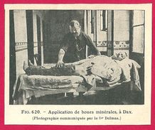 Dax (landes 40)  Bains De Boue Et D'eau Minérale Larousse Médical Illustré 1929 - Vieux Papiers