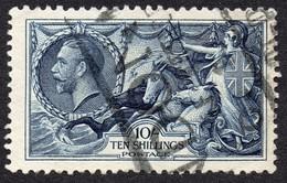 GB KGV 1934 10s Indigo Seahorse SG 452 Used - 1902-1951 (Kings)