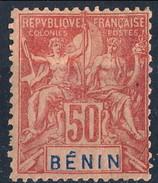 Benin 1894 N. 43 C. 50 Rosa MH Cat. € 32