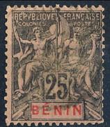 Benin 1894 N. 40 C. 25 Nero Su Rosa Usato Cat. € 8,50
