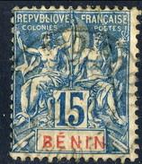 Benin 1894 N. 38 C. 15 Azzurro Usato Cat. € 6,50