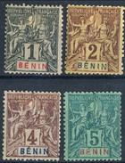 Benin 1894 N. 33-36 MH Cat. € 20,50