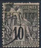 Benin 1892 N. 5 C. 10 Nero Su Lillla Usato Cat € 90