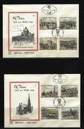 ÖSTERREICH - FDC Mi-Nr. 1164 - 1171 (2 Belege) Internationale Briefmarkenausstellung WIPA 1965, Wien - Stempel WIEN (7) - FDC