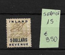 BRITISH GUIANA YVERT SERVICE NR. 15 OBLITERE TBE RARISIME COTATION YVERT TELLIER EUROS 350.- - Guyana Britannica (...-1966)