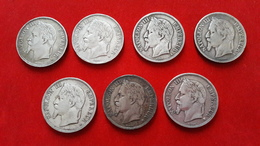 ECUS 5 Francs ARGENT NAPOLEON III (lot De 7 Monnaies) - France