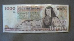 1000 PESOS, Juana De Asbaje, 7 AGO 1984, Série VA, N°CC060667, Circulé, Bon état. - Mexico