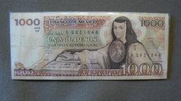 1000 PESOS, Juana De Asbaje, 7 AGO 1984, Série VF, N°GQ921648, Circulé, Bon état. - México