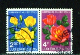 LUXEMBOURG  -  1956  Roses  Set  Used As Scan