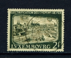 LUXEMBOURG  -  1956  Railway Electrification  2f  Used As Scan