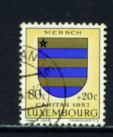 LUXEMBOURG  -  1957  Welfare Fund  80c+20c  Used As Scan
