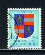 LUXEMBOURG  -  1957  Welfare Fund  1f20+30c  Used As Scan