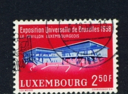 LUXEMBOURG  -  1958  Brussels Exhibition  2f50  Used As Scan