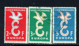 LUXEMBOURG  -  1958  Europa  Set  Used As Scan