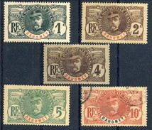 Dahomey 1906-07 N. 18-22 Misti MH-Usato Cat. € 28,50