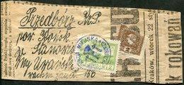 Russia Russland Russie Russian Poland Polen Pologne 1918 WW1 Austrian Occupation PRZEDBORZ Local Newspaper Wrapper WWI - Russia & USSR