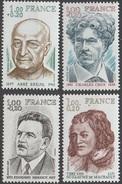 France 1977 N° 1953-1956 NMH Célébrités (E12) - France