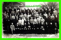 """JÉRUSALEM, ISRAEL -PÉLERINAGE DE L'ACTION CATHOLIQUE DE QUÉBEC """"PÂQUE"""" À JÉRUSALEM LE 20 AVRIL 1930 - COUVENT ST-SAUVEUR - Israel"""