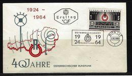 ÖSTERREICH - FDC Mi-Nr. 1174 - 40 Jahre Rundfunk In Österreich Stempel WIEN (11) - FDC