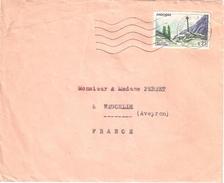 3890 ANDORRE Lettre Ob Andorre La Vieille 0,25 F Yv 158 - Cartas
