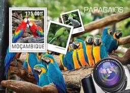 MOZAMBIQUE 2014 SHEET PARROTS PERROQUETS LOROS PAPAGAIOS PAPAGEIEN PAPPAGALLI BIRDS OISEAUX AVES Moz14417b - Mozambique