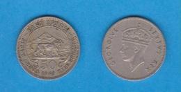 AFRICA DEL ESTE (EAST AFRICA - BRITISH COLONY)  50 CENTIMOS 1.949 CU-NI KM#30  MBC/VF  DL-12.089 - Monnaies
