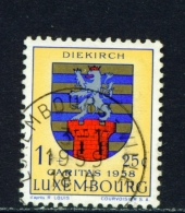 LUXEMBOURG  -  1958  Welfare Fund  1f+25c  Used As Scan